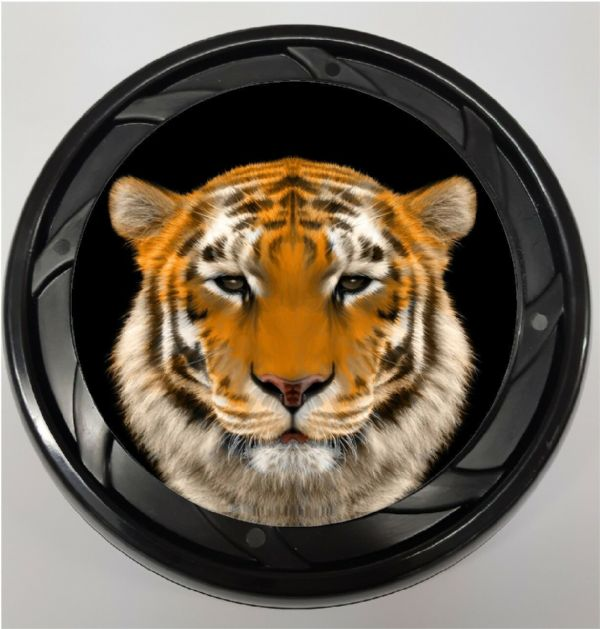 WHEELCHAIR & POWERCHAIR Personalised Spoke Guards TIGER Design